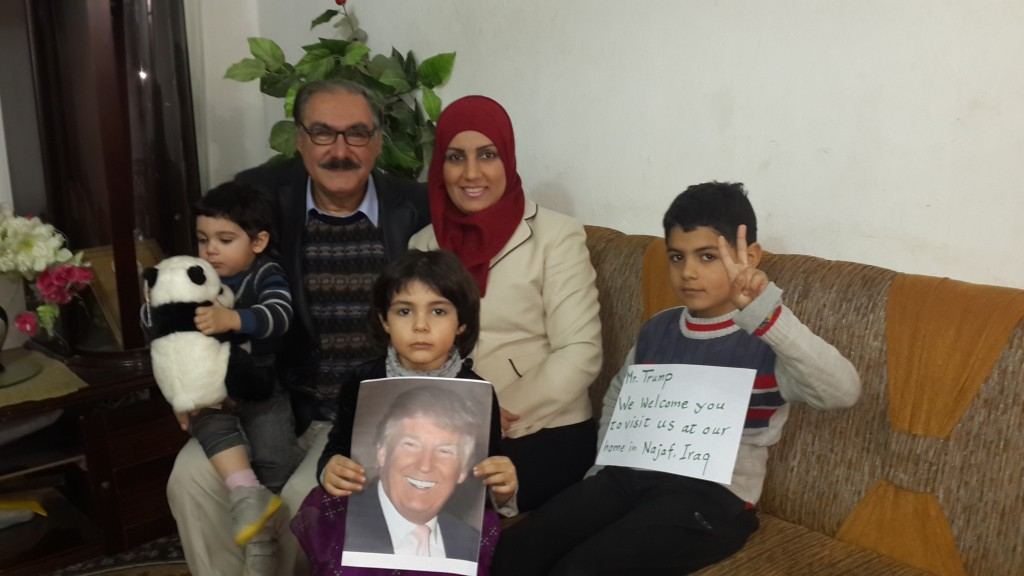 Muslim Peacemaker Teams founder Sami Rasouli and family Najaf, Iraq December 2015